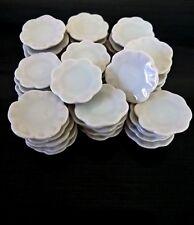 30 White Flower Shaped Dishes Dollhouse Miniatures Kitchenware & Tableware Decor