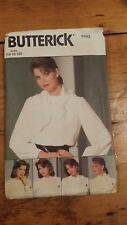 VINTAGE BUTTERICK LADIES BLOUSE COLLAR PATTERN 6222 SIZE 14-18 FREE SHIPPING