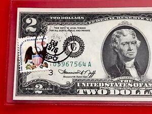 1976 $2 TWO DOLLAR BILL ( PHILADELPHIA ) Stamp UNCIRCULATED