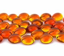Oceanside Pebbles - Orange Cathedral - 96 Coe - 8oz - By Stallings Stained Glass