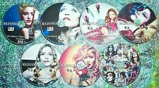 Button & FREE Madonna Music Video Anthology 82-2018 7 DVD Set (147 Videos) 14Hrs