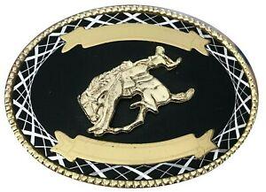 Vtg Bucking Bull Belt buckle Rodeo Rider Riding Men's Cowboy Trophy Show Steer