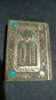 Jewish Siddur+Tehillim Psalms in metal cover Synagogue Temple Pray Book French