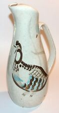 Red Wing Pottery Tall Pitcher Quail Bob White 60 oz Mid Century Modern