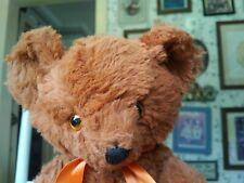 Antique/Vintage 1940s plush Knickerbocker Teddy bear 12in Vgus