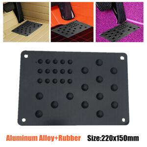 Aluminum Truck Car Floor Mat Carpet Heel Plate Foot Pedal Rest 220x150mm Screws