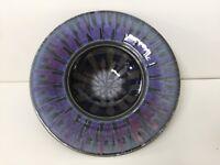 "Studio Art Pottery Centerpiece Bowl Purple, Blue & Black, Artist signed, 12"" Dia"