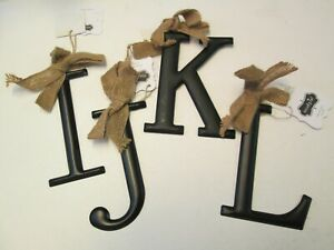 Black Tin Initial by Mud Pie, Initial I or J, NWT
