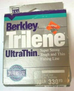 Berkley Trilene Fishing Line 10 lbs 330 yds Ultra thin Ultra Clear Super Strong
