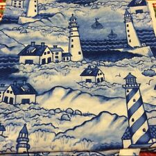 LIGHTHOUSE  100% COTTON FABRIC NEW QUILT NAUTICAL FQ #20