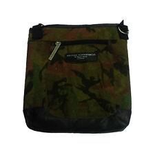 Ceinture d'épaule camouflage tissu e eco-cuir brun 2 poches