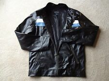 Carbon Brand Motorcycle Cafe Racer Jacket Dark Brown with White and Blue Accents