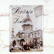 Architecture Of Britain Poster Tin Antique Metal Signs Home Pub Bar Wall Decor