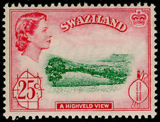 SWAZILAND SG86, 25c emerald & carmine-red, NH MINT.
