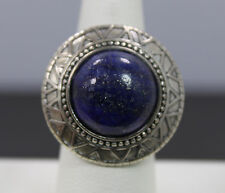 Silpada Sterling Silver Peruvian Ring Blue Lapis Cabochon R3270