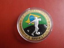 *Fußball WM 2010* Brasilien *Medaille PP 2010  /ca.40mm (Schub93)