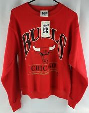 Vintage 90s Lee Sport Chicago Bulls deadstock NOS Sweatshirt red SZ adult S