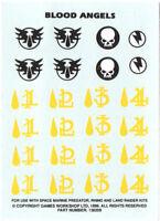 Warhammer 40k Blood Angels Transfer Sheet Decal Sheet Space Marines Marine