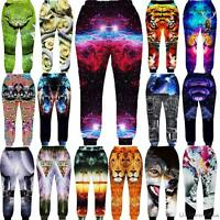 3D Graphic Print Space Galaxy Sport Running Joggers Pants Mens Womens Sweatpants