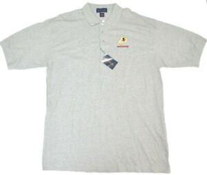 Redskins NFL Polo Shirt Antigua Heather Grey Embroidered Logo Tags Football