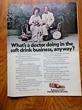 1970 Dr Pepper Soda Pop Ad What's A Doctor Doing in the Business