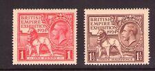 GB George V 1924 /25 Empire Exhibition , multiple, multi-coloured  MNH
