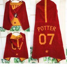 Harry Potter Gryffindor School Badge Red Bathtowel Kid Children Size Caped Towel
