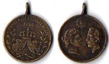 """Medaglia Comm. """"Ricordo Delle Auguste Nozze"""" 1896 Elena E Vittorio Emanuele III"""