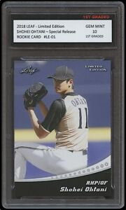 SHOHEI OHTANI 2018 LEAF LIMITED EDITION SPECIAL 1ST GRADED 10 ROOKIE CARD ANGELS