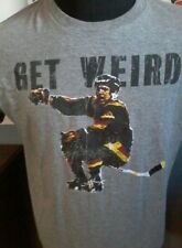 "Dave ""Tiger"" Williams  Get Weird Bar Down brand T-Shirt Vancouver Canucks NHL"