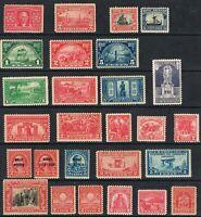 Jimace29 US #324-681 Lot of  27  1900-1929 Unused, Mostly MNH O.G. C.V. $196.