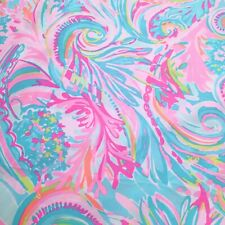 """Carnivale Coral ~ Lilly P Polyester Fabric (soft) ~ 1 yard x 57"""""""
