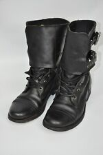AllSaints  Military Ankle Boots Black Leather Womens size 37