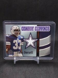 2000 Fleer Greats of the Game Cowboy Clippings Tony Dorsett WHITE JERSEY Patch!