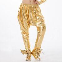 Kids Adults Hip Hop Baggy Harem Dance Pants Paillette Stage Performance Trousers