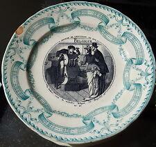 BORDEAUX jULES VIEILLARD ASSIETTE  EXPOSITION DE 1878 BELGIQUE N°10