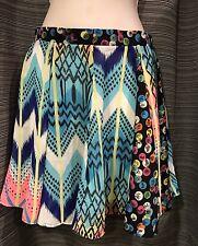 New Women's Chandelier Pleated Skirt XS LF Store Multi Colored Festival