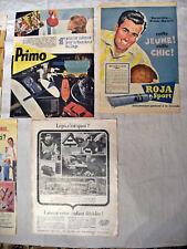Publicités de magazine années 60/70 conso divers  cuisine ,  soins , jeux