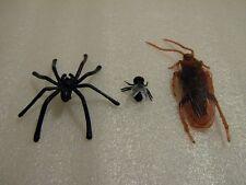Falsa mosca Araña Y Cucaracha Joke Broma de caucho plástico Gag Truco Falso De Insectos