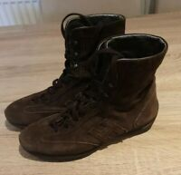 Hogan Ladies  Lace up Boots  Size 37.5 Uk4.5 Brown  Leather