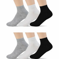 New Lot 6-12 Pairs Ankle Quarter Crew Men Women Thin Socks Cotton Casual Sports