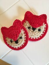 Crocheted Fox Scrubbies/washcloth - Set Of 2