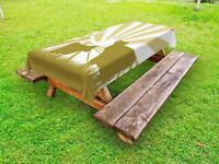 Cattle Outdoor Picnic Tablecloth in 3 Sizes Washable Waterproof