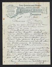 "PHILIPPEVILLE (ALGERIE) QUINCAILLERIE TAILLANDERIE ""Edouard BRUN"" 1908"
