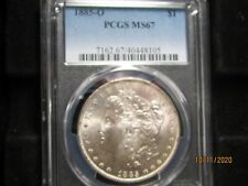REGISTRY - 1885-O MORGAN  DOLLAR  MS-67  AT PCGS ONLY 4 COINS GRADED HIGHER !!!