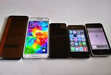 Samsung Galaxy S8 Plus Galaxy s5 iPhone 3,4,5 Lot of 5 FOR PARTS or Repairing