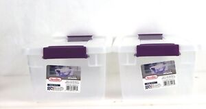 2 Pack of Clear Sterilite 6-Quart Clear-View Latching Storage Containers Totes