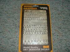 Woodland Scenics decals  HO  Rom. RR black 1/16 3/32 1/8 3/16 1/4 5/16 Lot1 C44