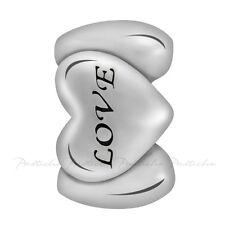 Lovelinks Bead Sterling Silver, Love Heart Spacer Charm Fashion Jewelry TT511