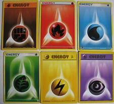 4X Pokemon Energy Cards Fight,Fire,Water,Grass,Lightning,Psychic (Read Listing)